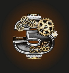 3 letter with gears vector