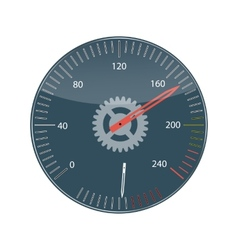 Flat design concept speedometer with long sh vector