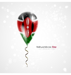 Flag of kenya on balloon vector