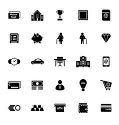 Personal financial icons on white background vector