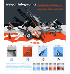 Weapon Infographics Set vector image