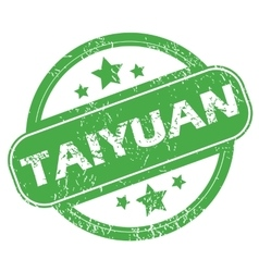 Taiyuan green stamp vector