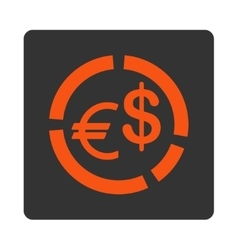 Currency diagram icon vector