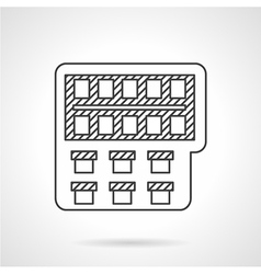 Painting monochrome line icon vector