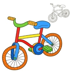 Bicycle coloring book page vector