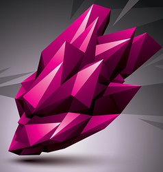 Asymmetric 3d abstract object bright geometric vector