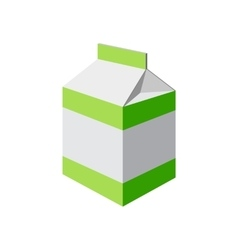green package isolated vector image