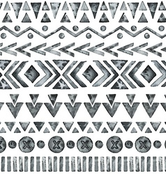 Ethnic watercolor seamless pattern vector