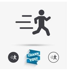 Running sign icon human sport symbol vector