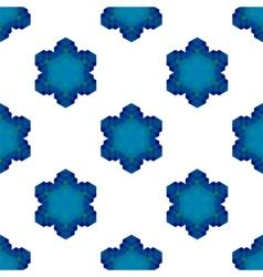 Seamless blue snowflake pattern vector