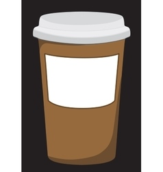 Plastic coffee cup with hot vector
