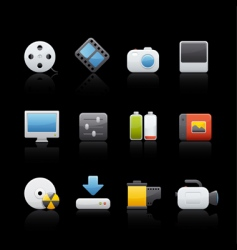 icon set multimedia vector image