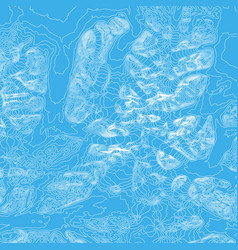 Abstract earth relief blue map vector