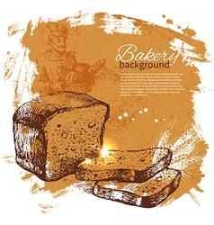 Bakery sketch background vector
