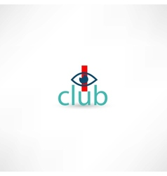 club symbol with eye vector image vector image