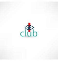 club symbol with eye vector image vector image