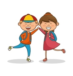 cute little kids characters vector image