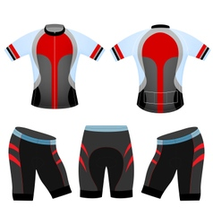 Cycling vest team vector