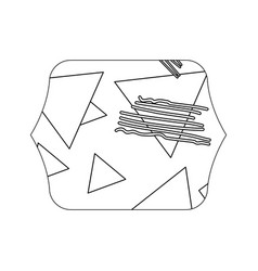 Edge quadrate with geometric figure stye vector