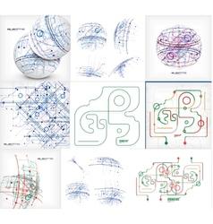 Electronic scheme background mega collection vector