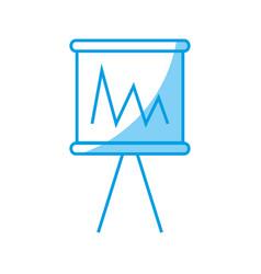 financial chart icon vector image vector image