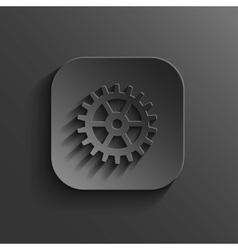 Gear icon - black app button vector