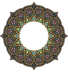 Multicoloured frame mandala design element in the vector