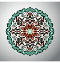 Ornamental round colorful geometric mandala in vector