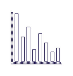 Purple line contour of column chart vector