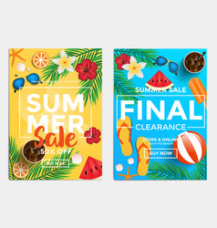 sale and discount flyers - summer sale vector image