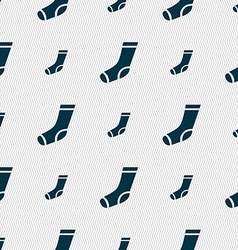 Socks icon sign seamless pattern with geometric vector
