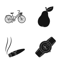 Sports nicotine and other web icon in black style vector