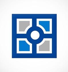 Square decorative window mozaic logo vector