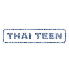 Thai teen textile stamp vector