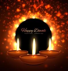 Colroful diwali season greeting card design vector