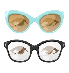 Glasses human eye vector