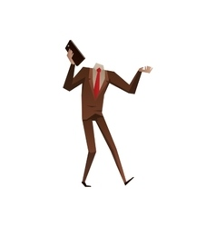 Businessman with no head vector