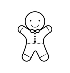 Cookie christmas silhouette with bow in neck vector