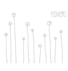 contour flowers vector image