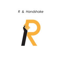 Creative r letter icon abstract logo design vector