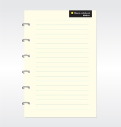 Blank notebook eps10 vector