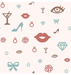 pattern icon glamour vector image
