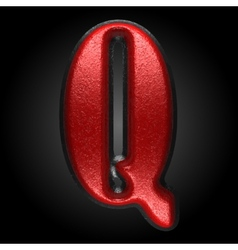 Red plastic figure q vector