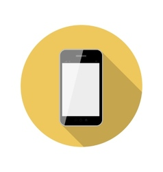 Flat design concept phone with long shadow vector