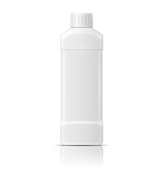 White plastic bottle for dishwashing liquid vector