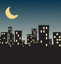 Town night star vector