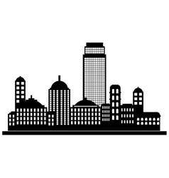 City panorama silhouette vector image