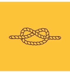The knot icon node and tie rope symbol flat vector