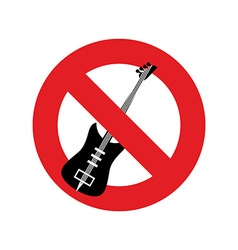 Stop music ban for rock music red forbidding vector