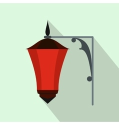 Red light icon flat style vector